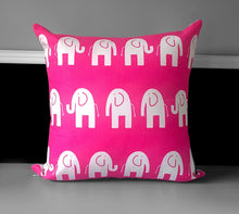 "Load image into Gallery viewer, Pink Elephants Pillow Cover 19"" x 19"""