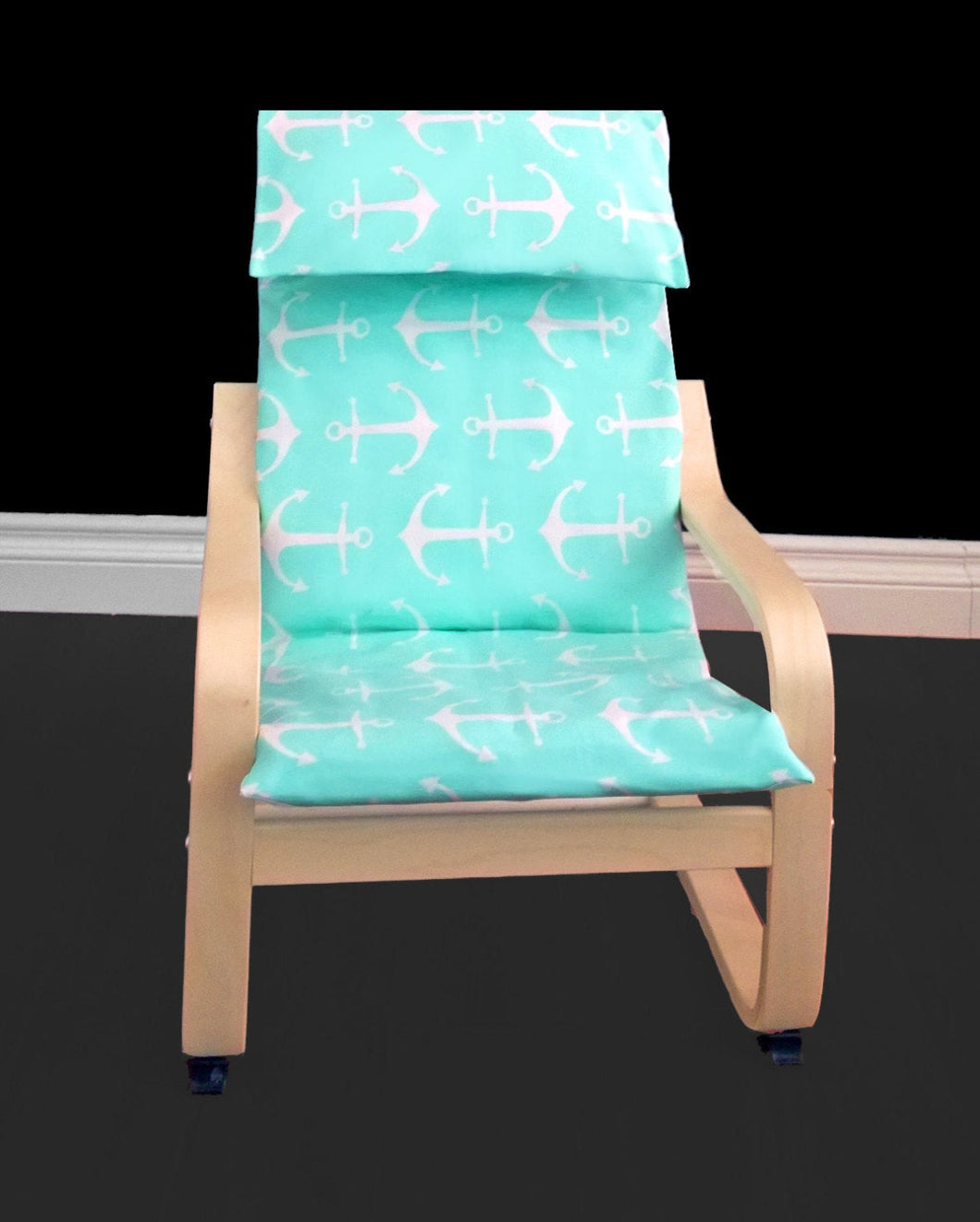 KIDS POÄNG Anchor Cushion Seat Cover