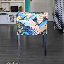 Load image into Gallery viewer, IKEA NILS Beach Banana Leaf Print, Teal Blue, Pink