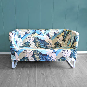 IKEA KNOPPARP, Jungle Banana Leaf, Blush Pink, Sofa Cover