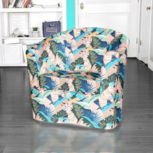 Load image into Gallery viewer, IKEA TULLSTA Chair Cover, Pink Teal Banana Leaf Jungle Print