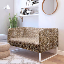 Load image into Gallery viewer, Brown Leopard, Cheetah Print IKEA KNOPPARP Slip Cover