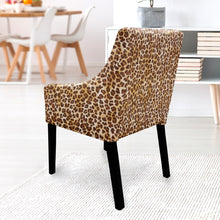 Load image into Gallery viewer, IKEA SAKARIAS Dining Chair Slipcover, Brown Cheetah Leopard Animal Print
