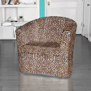 IKEA TULLSTA Chair Slip Cover, Leopard Brown