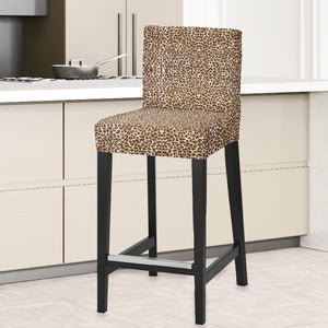 IKEA HENRIKSDAL Bar Stool Chair Cover, Brown Cheetah Leopard Animal Print