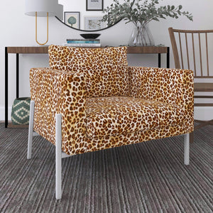 IKEA KOARP Armchair Covers, Brown Leopard Animal Print