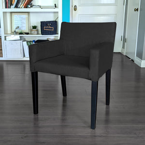 Black Linen IKEA NILS Chair Cover