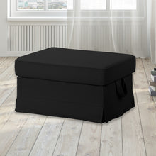 Load image into Gallery viewer, IKEA EKTORP Sofa Slip Cover, Solid Linen Black