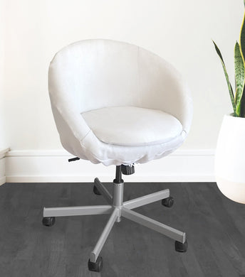 White Linen IKEA SKRUVSTA Chair Slip Cover