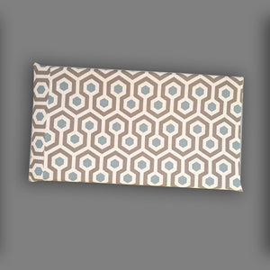 Oatmeal Honeycomb Pattern HEMMAHOS Bench Pad Slip Cover