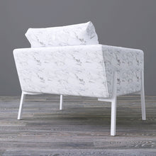 Load image into Gallery viewer, IKEA KOARP Armchair Cover, White Marble