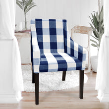 Load image into Gallery viewer, IKEA SAKARIAS Dining, Buffalo Check Plaid Navy Blue