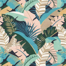 Load image into Gallery viewer, IKEA Lounge Slip Cover, Hallo Chaise Pad Cover, Banana Leaf Teal Blue Pink