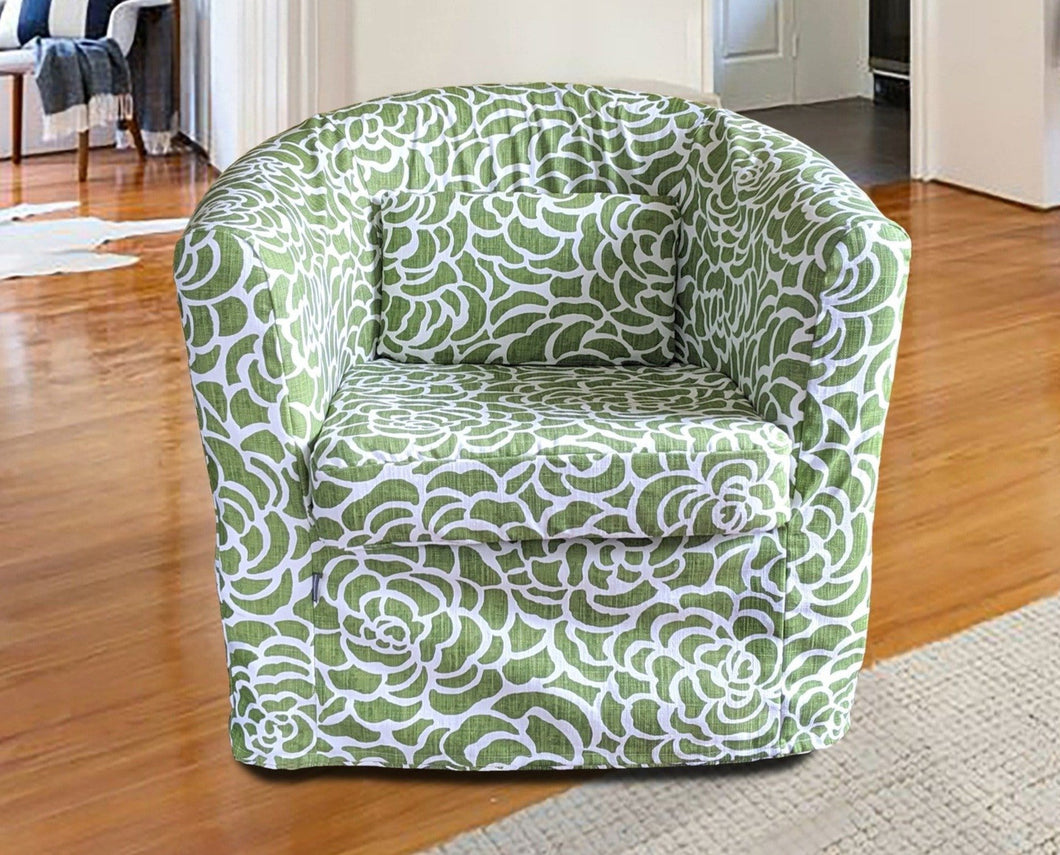 SALE IKEA TULLSTA Chair Slip Cover, Peony Green Floral