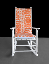 Load image into Gallery viewer, Orange Natural Aruba Rocking Chair Cushion Cover