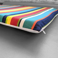 Load image into Gallery viewer, Rainbow Stripe IKEA VISSLA Bench Pad Slip Cover