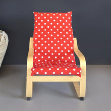 Load image into Gallery viewer, Red Polka Dot IKEA KIDS POÄNG Cushion Slipcover