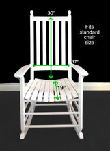 Load image into Gallery viewer, Gray Yellow Stripe Rocking Chair Pad