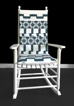 Load image into Gallery viewer, Geometric Patchwork Rocking Chair Pad