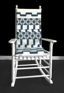 Geometric Patchwork Rocking Chair Pad