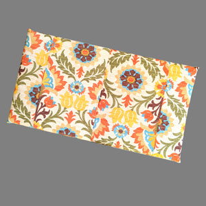 Orange Brown Floral IKEA Bench Pad Cover, Santa Maria Adobe