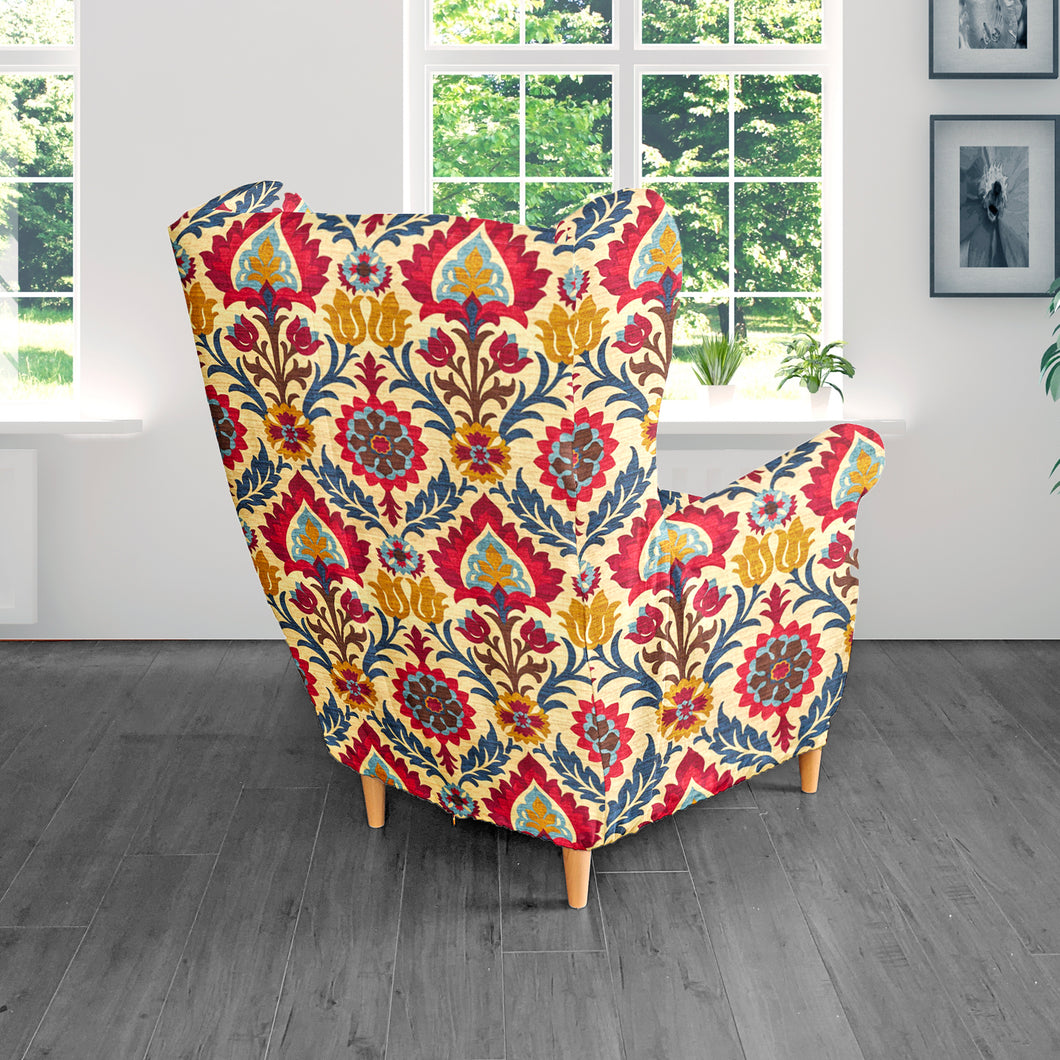 Indian Style Flowers IKEA HENRIKSDAL Dining Chair Cover