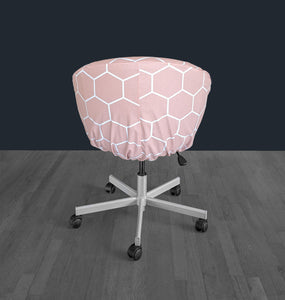 IKEA SKRUVSTA Chair Slip Cover, Hexagon Blush Pink