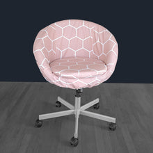 Load image into Gallery viewer, IKEA SKRUVSTA Chair Slip Cover, Hexagon Blush Pink