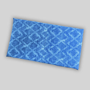 Shibori Diamond Denim Blue Print IKEA STUVA Bench Pad Slip Cover