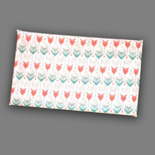Load image into Gallery viewer, White Red Mint Green Arrow Print, IKEA STUVA Bench Pad Slip Cover