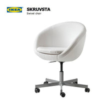 Load image into Gallery viewer, White Linen IKEA SKRUVSTA Chair Slip Cover
