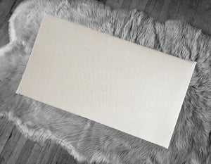 Solid Beige IKEA Window Seat Pad Cover