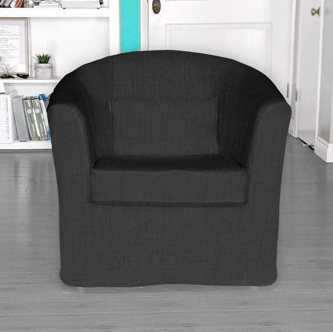 IKEA TULLSTA Chair Cover, Black Linen