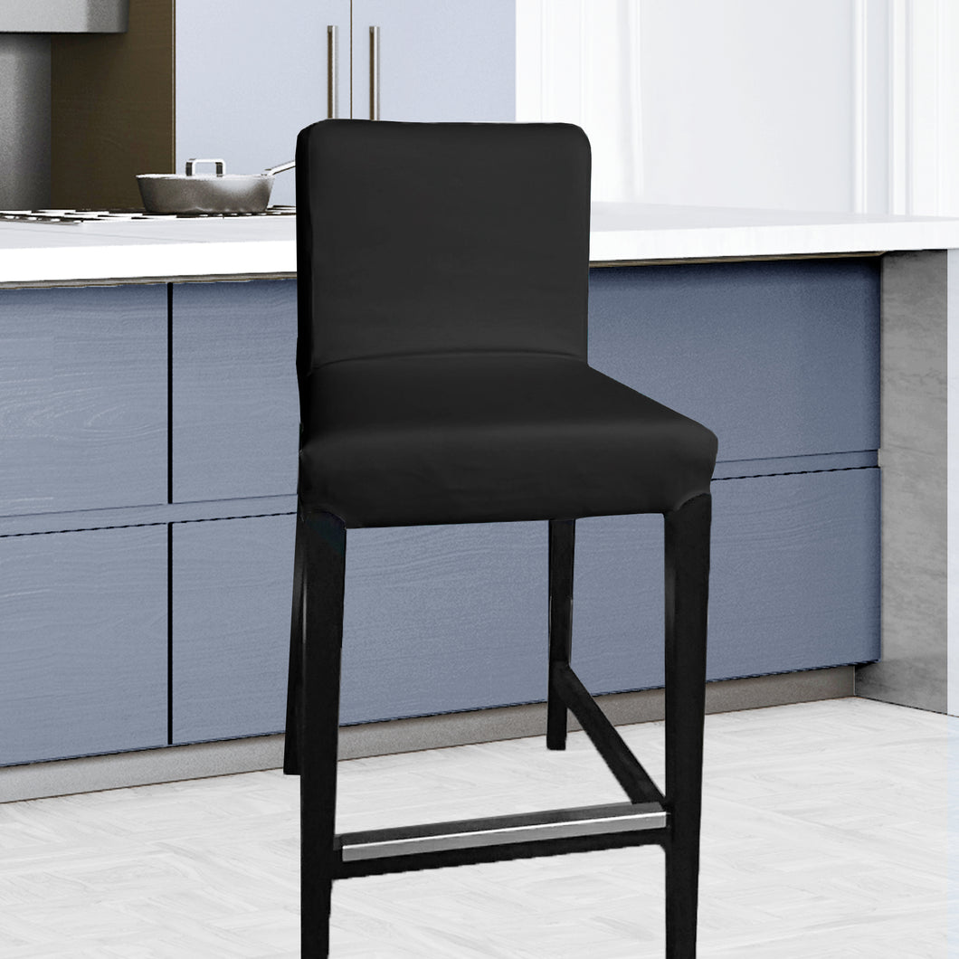 IKEA HENRIKSDAL Bar Stool Chair Cover, Black Linen