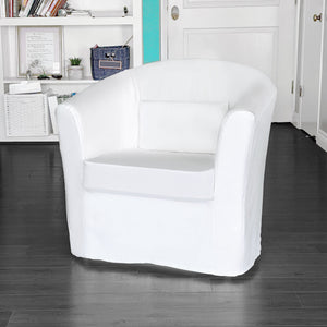 IKEA TULLSTA Chair Cover, Solid White Linen