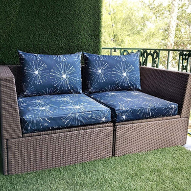 Navy Blue Sparks Pattern, IKEA Outdoor