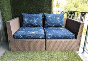 Sparks Navy Blue Print, IKEA Outdoor Slipcovers