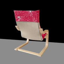 Load image into Gallery viewer, Fireworks Red Patchwork Kids Ikea Poang Chair Cover