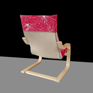 Fireworks Red Patchwork Kids Ikea Poang Chair Cover