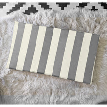 Load image into Gallery viewer, Beige Grey Stripe IKEA STUVA Bench Pad Slip Cover