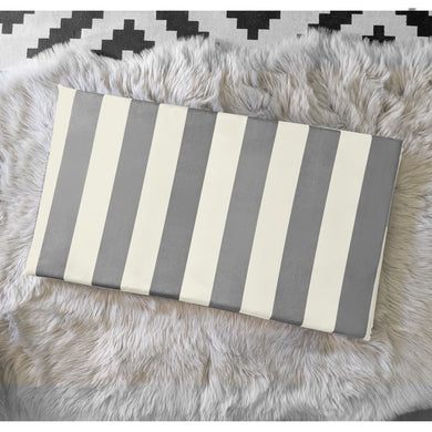 Beige Grey Stripe IKEA STUVA Bench Pad Slip Cover