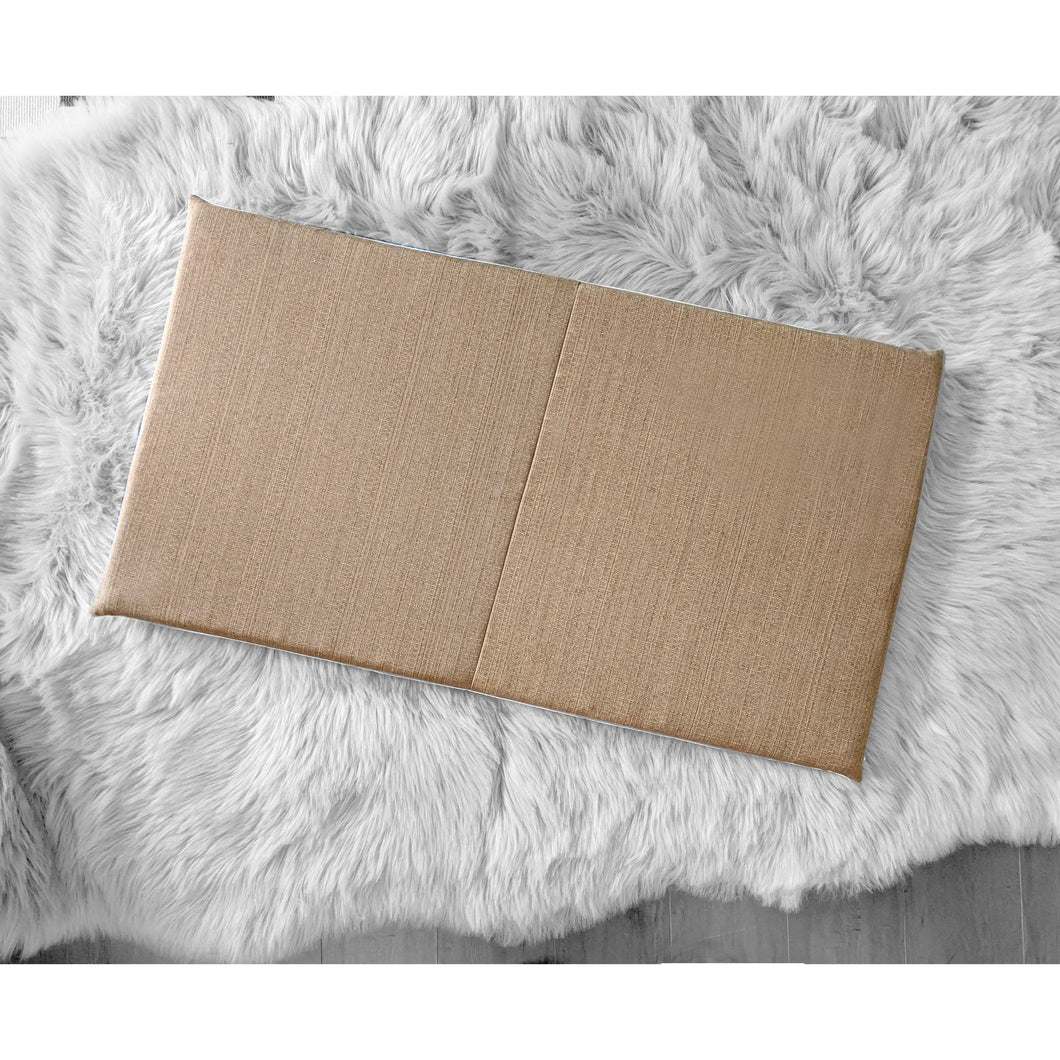 Sunbrella Solid Tan Fabric IKEA Bench Pad Slip Cover