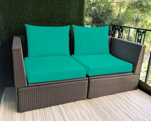 Sunbrella Teal Blue IKEA OUTDOOR Slip Covers