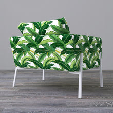 Load image into Gallery viewer, IKEA KOARP Armchair Cover, Green Banana Leaf Jungle Print