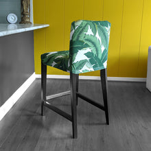 Load image into Gallery viewer, IKEA HENRIKSDAL Barstool Cover, Green Banana Leaf Jungle Print