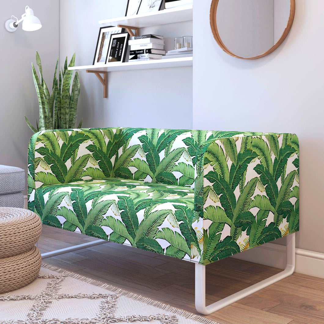 IKEA KNOPPARP Sofa Cover, Green Jungle Banana Leaf