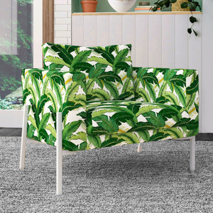 IKEA KOARP Armchair Cover, Green Banana Leaf Jungle Print
