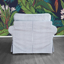 Load image into Gallery viewer, IKEA EKTORP Sofa Slip Cover, Navy Blue Ticking Stripe