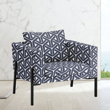 Load image into Gallery viewer, IKEA KOARP Armchair Cover, Navy Blue Coastal Rope