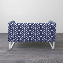 Load image into Gallery viewer, Navy Blue Rope Print IKEA KNOPPARP Sofa Cover